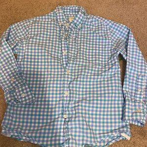 Crewcut 4/5 Blue Plaid Long Sleeve Button Down